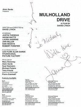 Mulholland Dr. press notes
